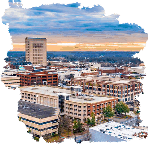 photo of the city of Spartanburg in South Carolina